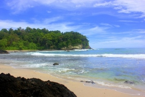 Hidden beach a bit away from West Beach, Pangandaran